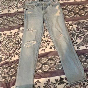 Abercrombie and Fitch low rise boyfriend jeans